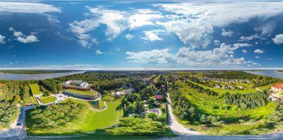 Panoramy 360 z drona, zdjęcia z drona