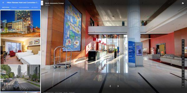 Spacery wirtualne Google street view