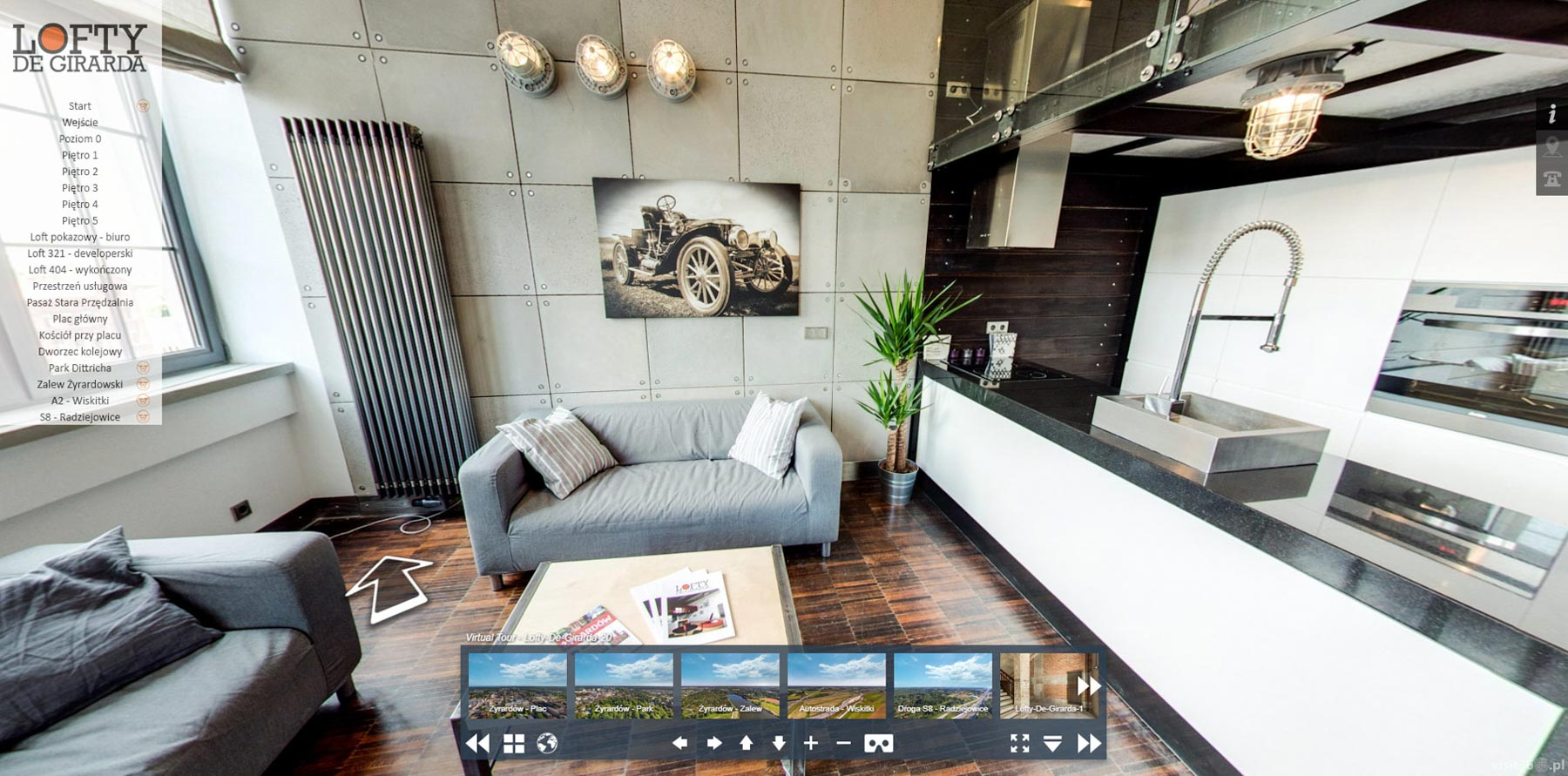 screen virtual tour lofty de girarda 2. Black Bedroom Furniture Sets. Home Design Ideas