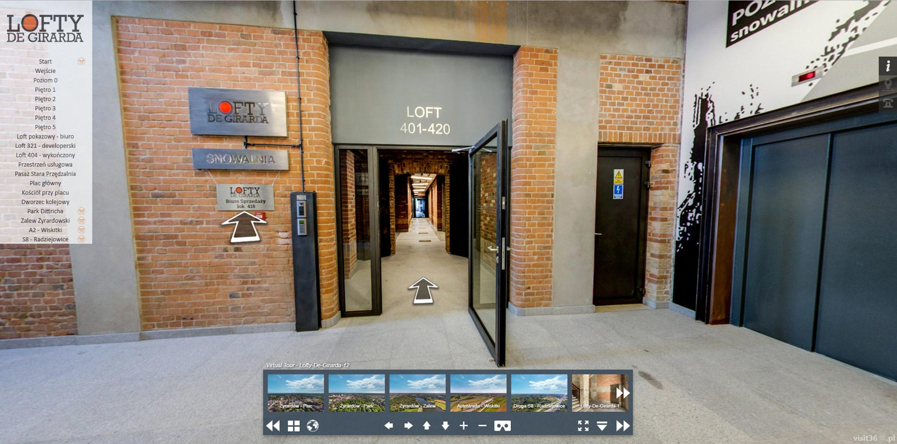 screen virtual tour lofty de girarda 3. Black Bedroom Furniture Sets. Home Design Ideas