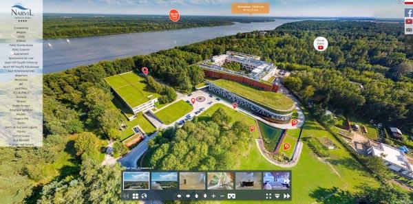 Spacery wirtualne Warszawa - Hotel Narvil